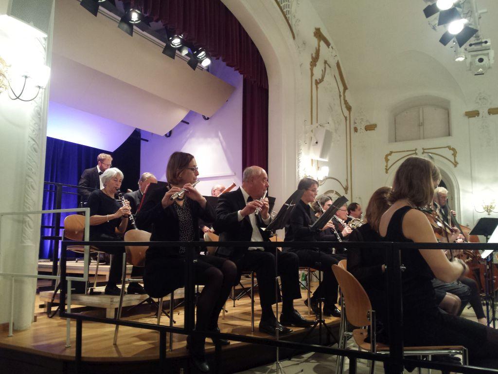 Die Bläser-Sektion des Orchesters