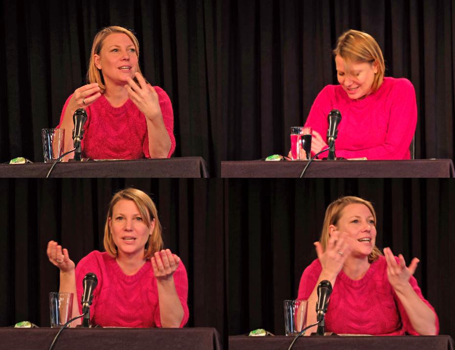 Journalistin Kathrin Hartmann bei ihrem leidenschaftlichen Vortrag