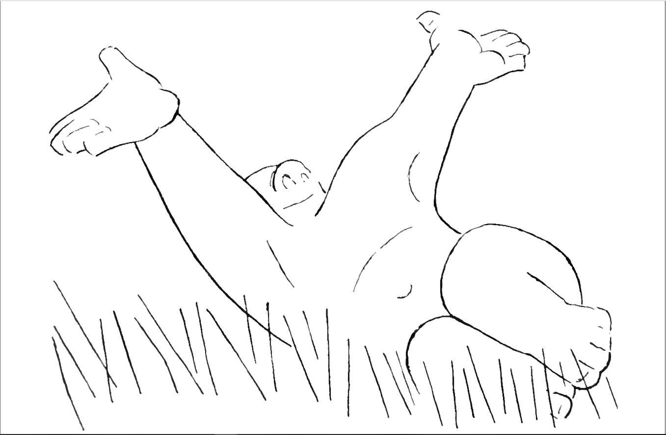 Olaf im Gras von Olaf Gulbransson
