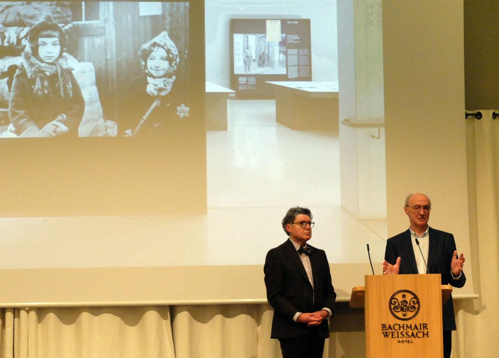 Prof. Dr. Wilhelm Vossenkuhl, akademischer Kurator der Reihe und Prof. Dr. Winfried Nerdinger, Vortragender