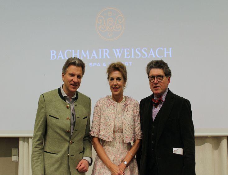 Liebhaber der Philosophie: Gastgeber Korbinian Kohler, Schirmherr Willhelm Vossenkuhl und Referentin Barbara Vinken