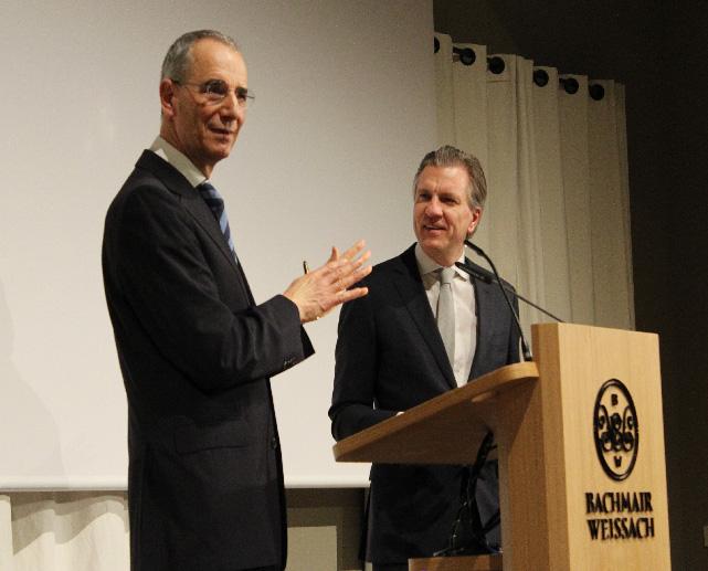 Der eloquente Redner Michael Wolffsohn zu Gast im Korbinians Kolleg mit Korbinian Kohler. Foto: Andreas Vogt