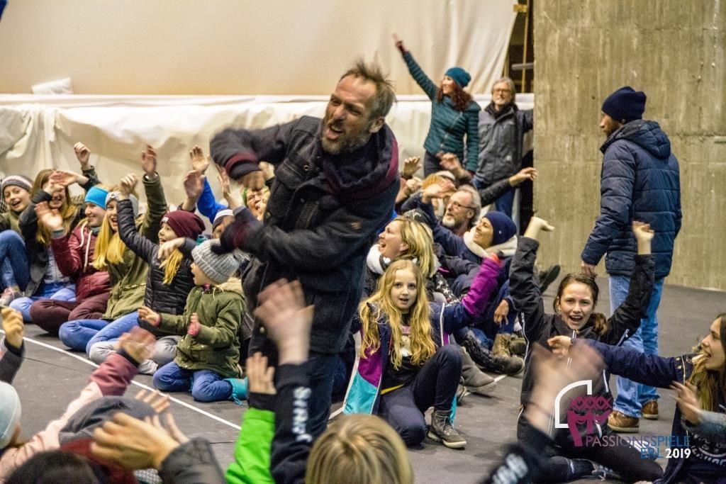 Passionsspiele Erl Proben Markus Plattner in Aktion