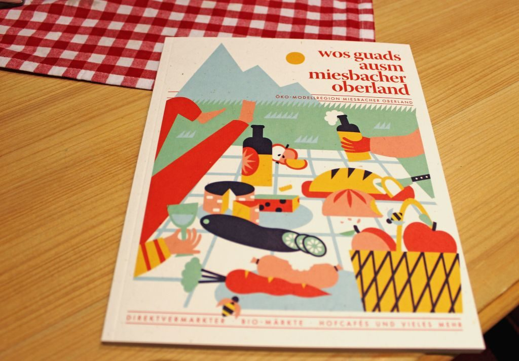"""Broschüre """"wos guads ausm Miesbacher Oberland"""" – Direktvermarkter, Biomärkte und vieles mehr"""