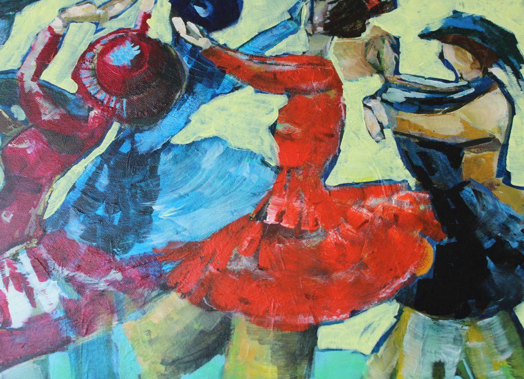 """Bildausschnitt """"Tänzerinnen"""" von Mechthild Köllner."""