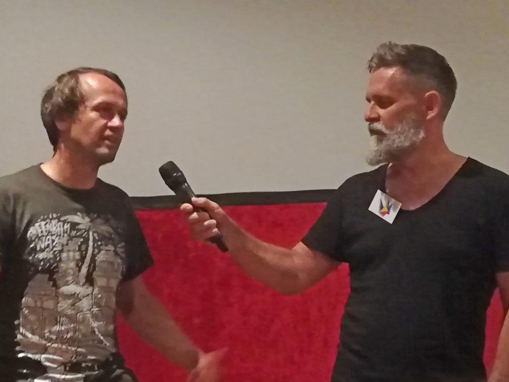 Roman Schlaack im Publikumsgespräch mit Robert Krause Foto Karin Sommer