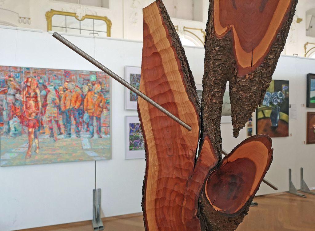 Holzskulptur von Sven Horn aus Hohendilching