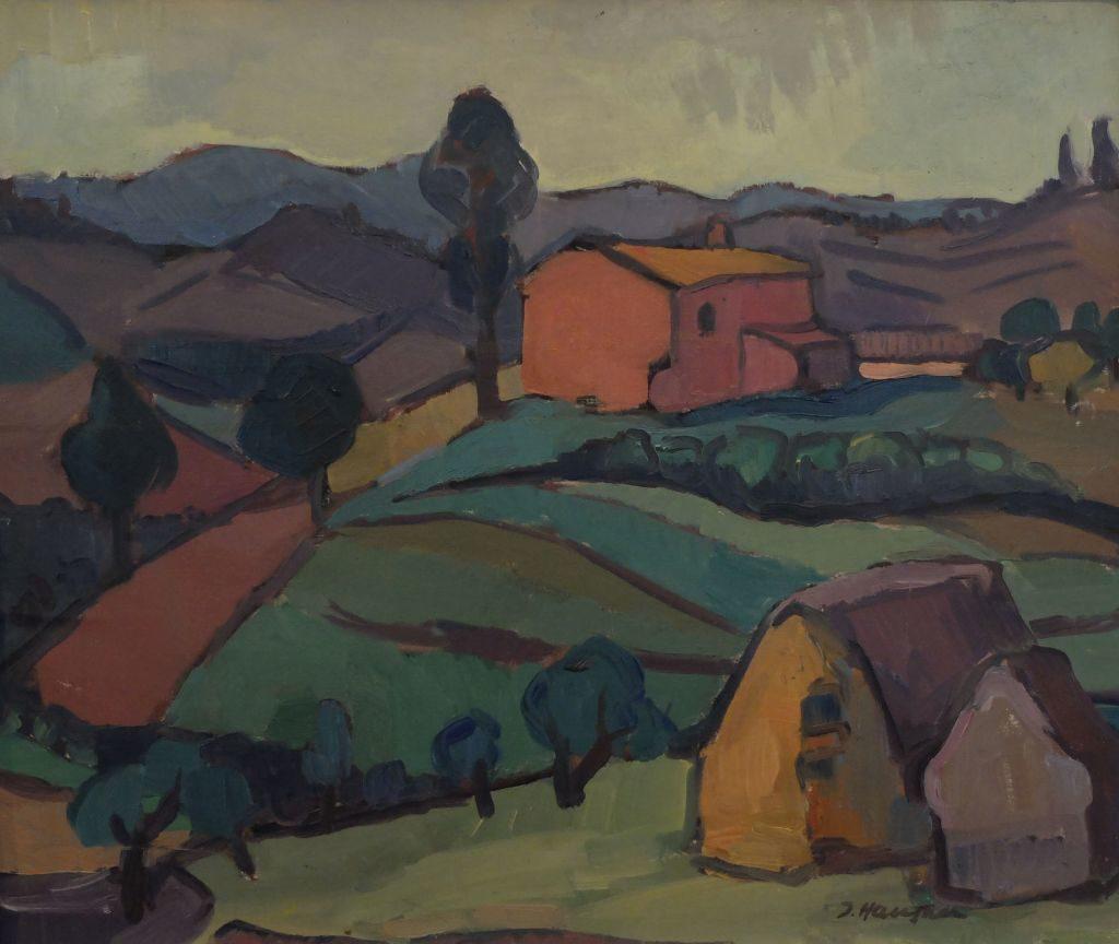 Ilse Hausner-Witschel: Toskanische Landschaft