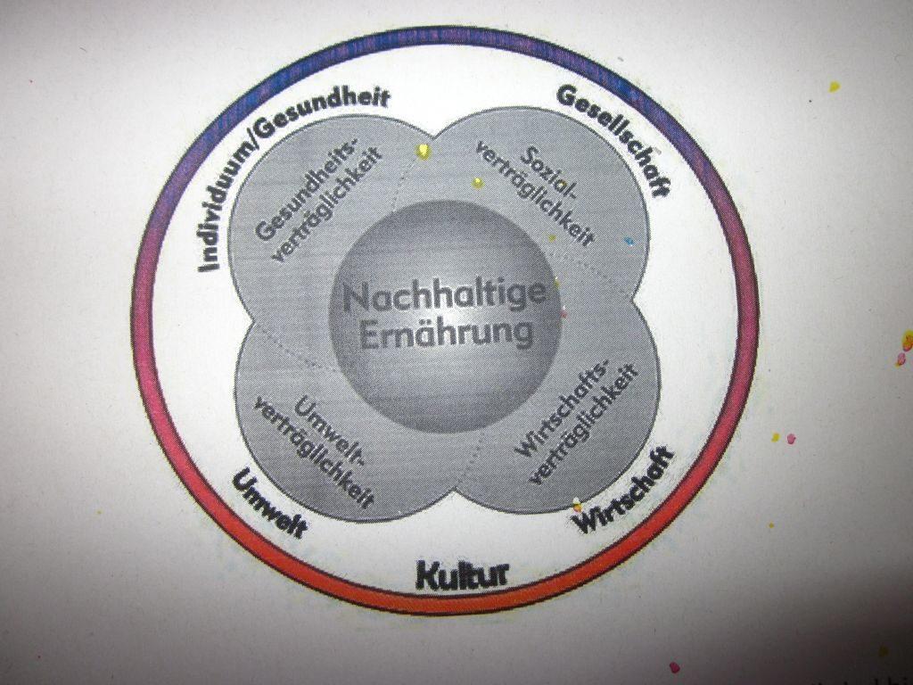 Ökolabel fünf Bereiche der Nachhaltigkeit