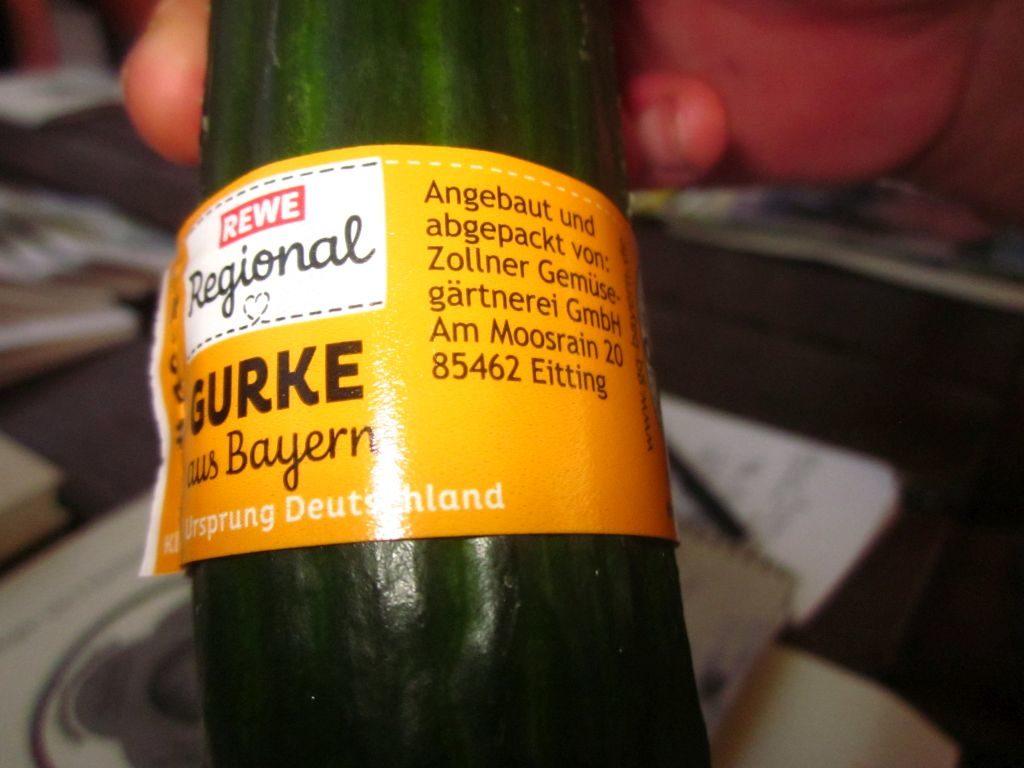 Ökolabel Gurke aus Bayern