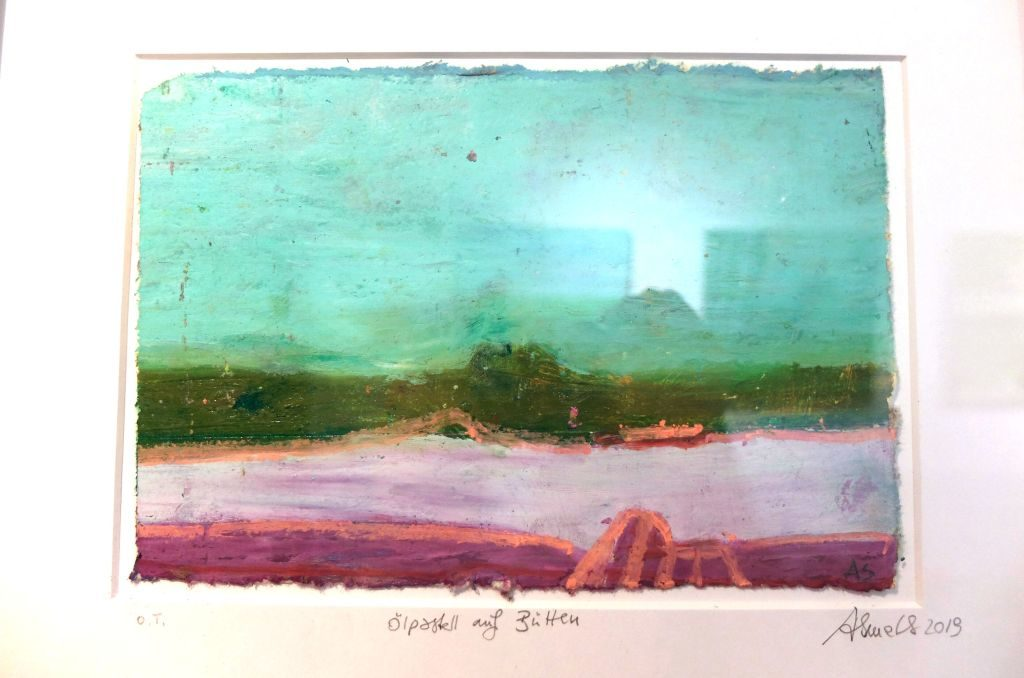 Angela Smets malt im Winter kleine Formate