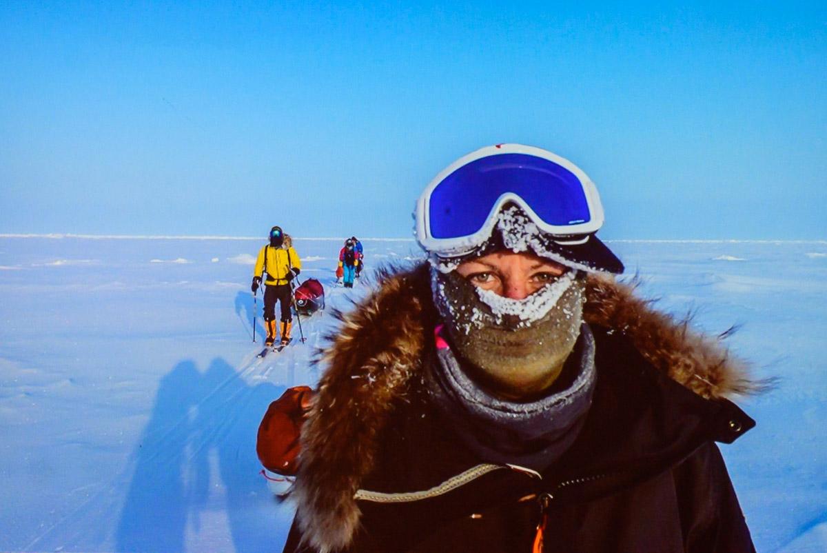 Julia Schultz am Südpol