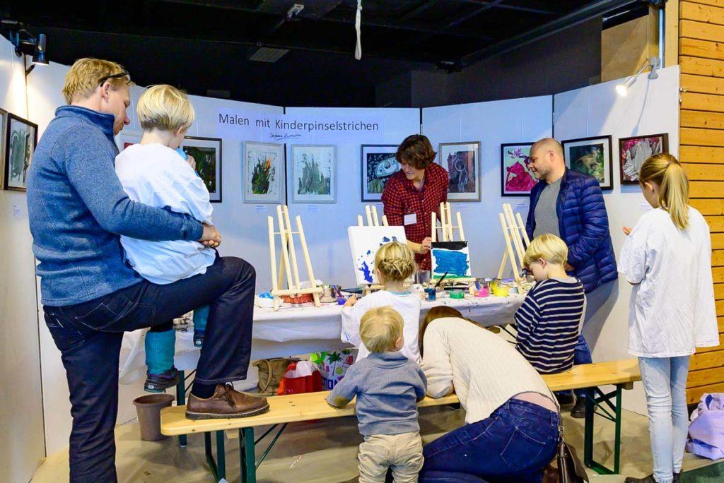 Kinderworkshop zur Ausstellung in Irschenberg