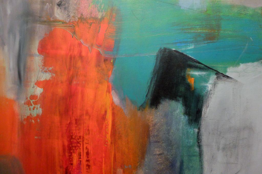 Abstrakt am Tegernsee: Acryl auf Leinwand, Ohne Titel, Ausschnitt - Gerlinde Belz-Küpper