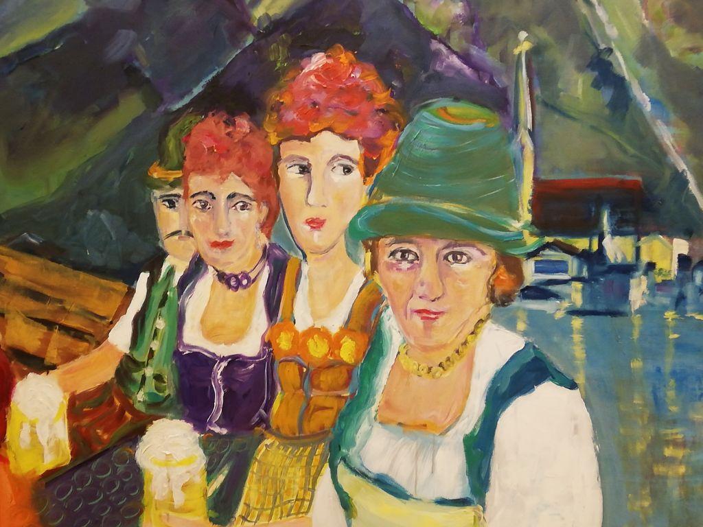 """""""Freundschaft"""" - Vier Frauen am See. Ausstellung im Bussy Baby am Tegernsee"""