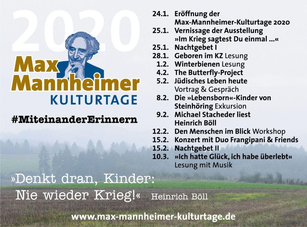 Max Mannheimer Kulturtage