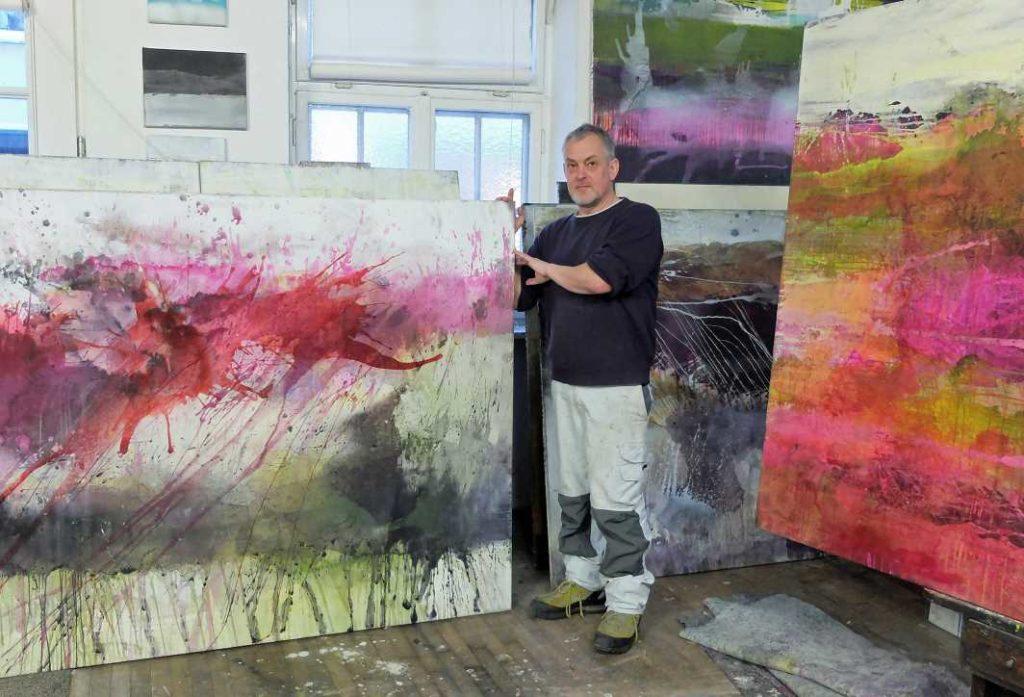 Jürgen Welker im Atelier _ (c)IW