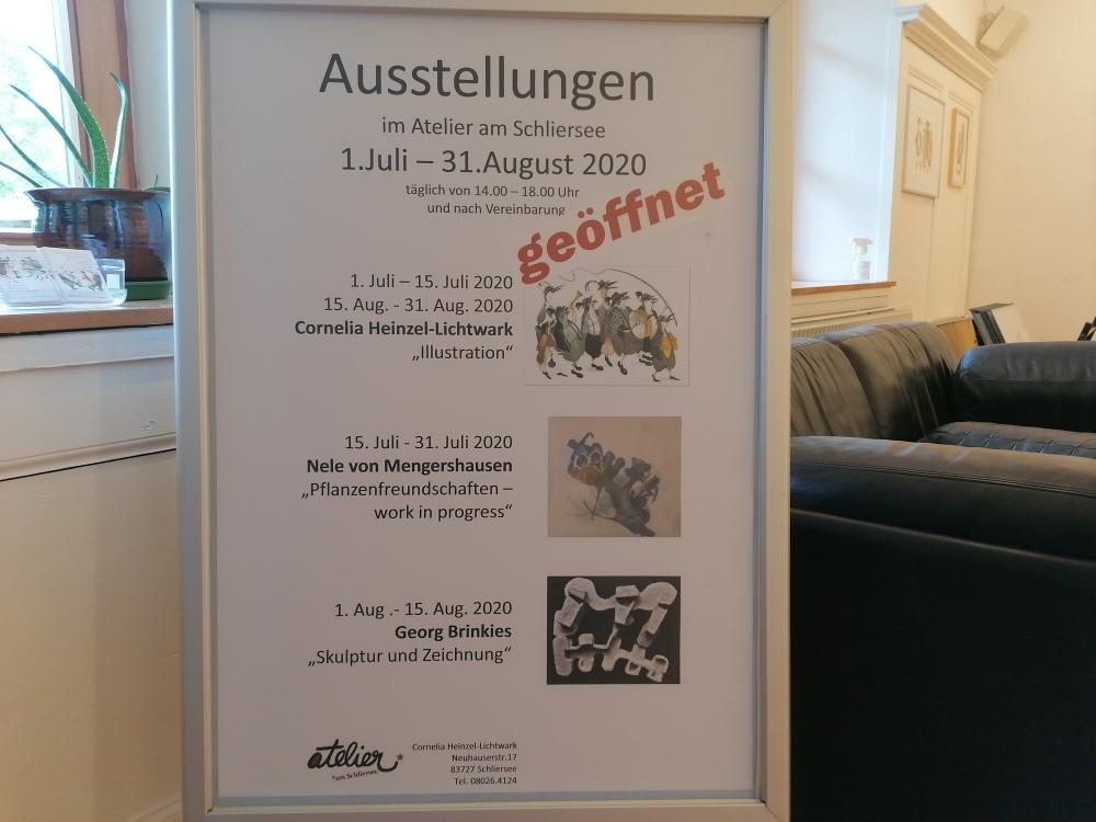 Künstlertrio Ausstellungsplakat
