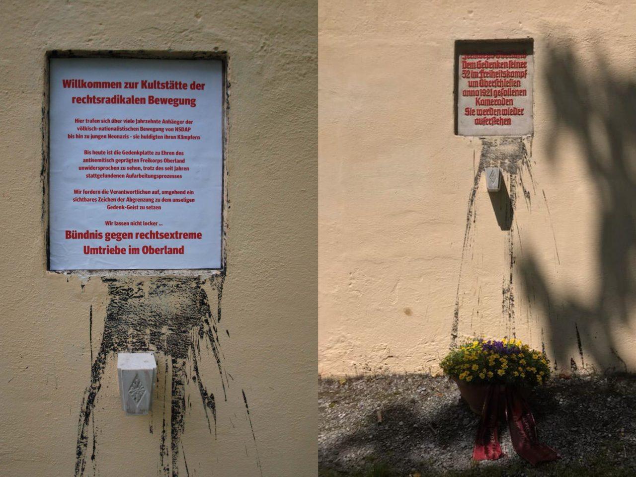 Kunstaktion gegen Rechtsextremismus