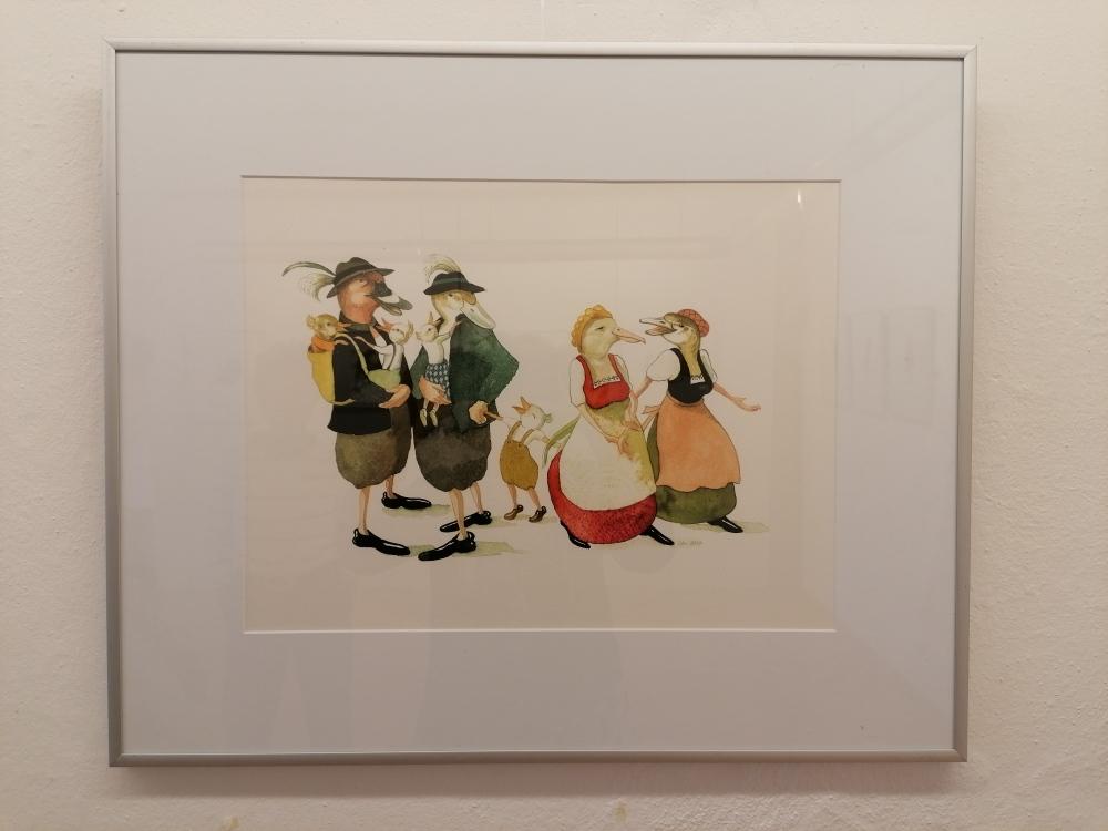 Künstlertrio-Väter und Kinder