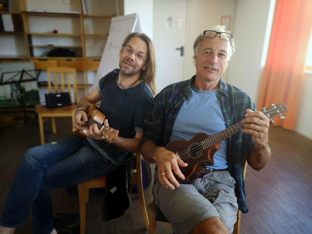 Ukulele lernen im Waldviertel mit Christof Birkmayer und Michi Roselieb