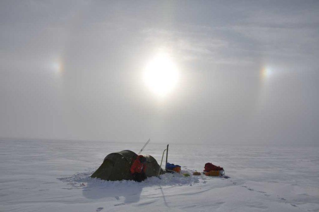 Zelt in der Arktis