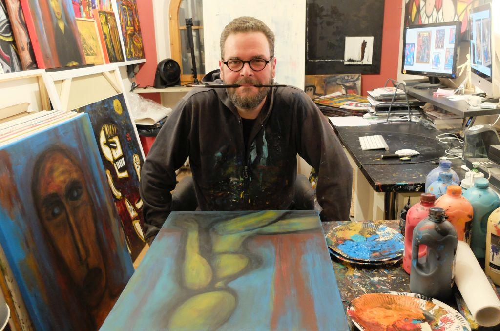 Atelierbesuch bei Stephan Mundi- abtrakte Maler in seinem Ostiner Atelier