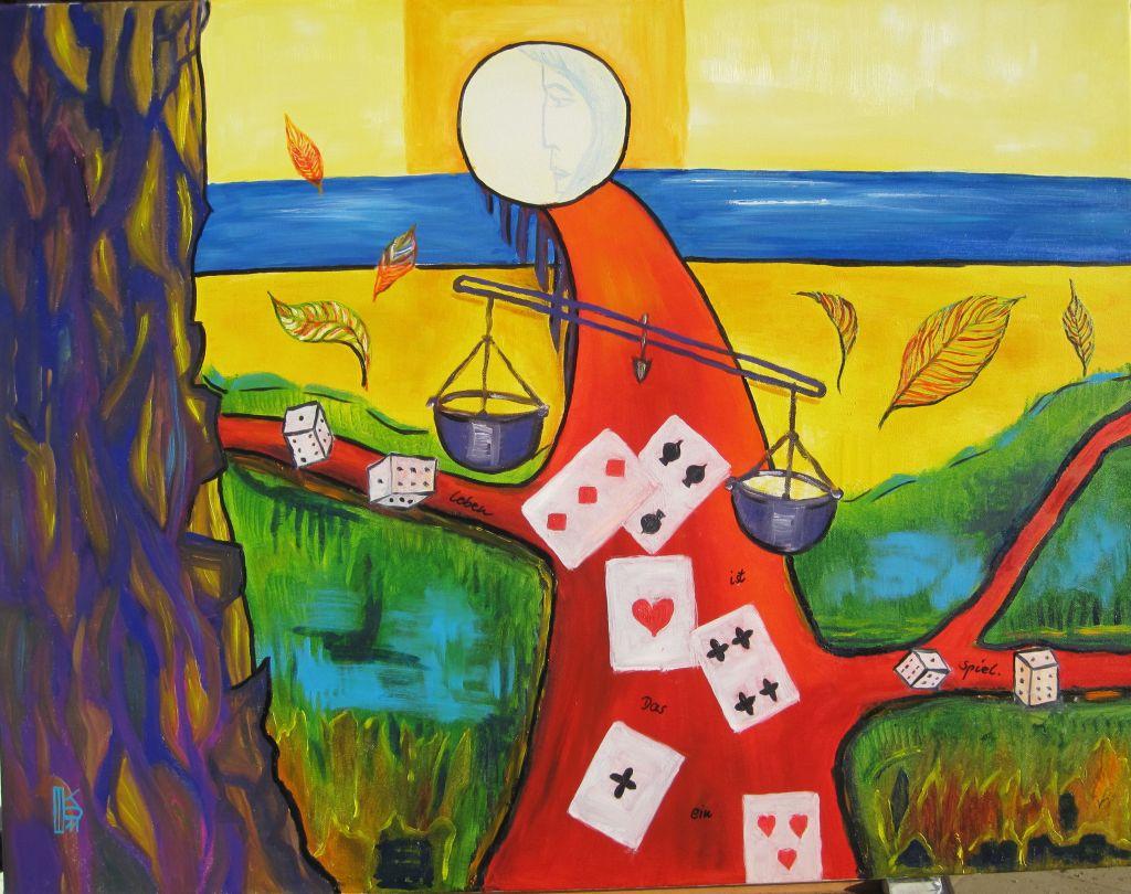 Karin Paland Tegernsee - Das Leben ist ein Spiel, Öltechnik. Foto: Karin Paland