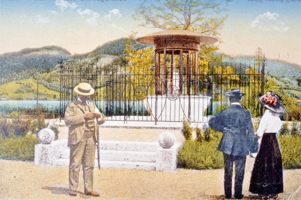 Historische Postkarte des Jodschwefelbades - Schwefelwasser Jod-Schwefelbad