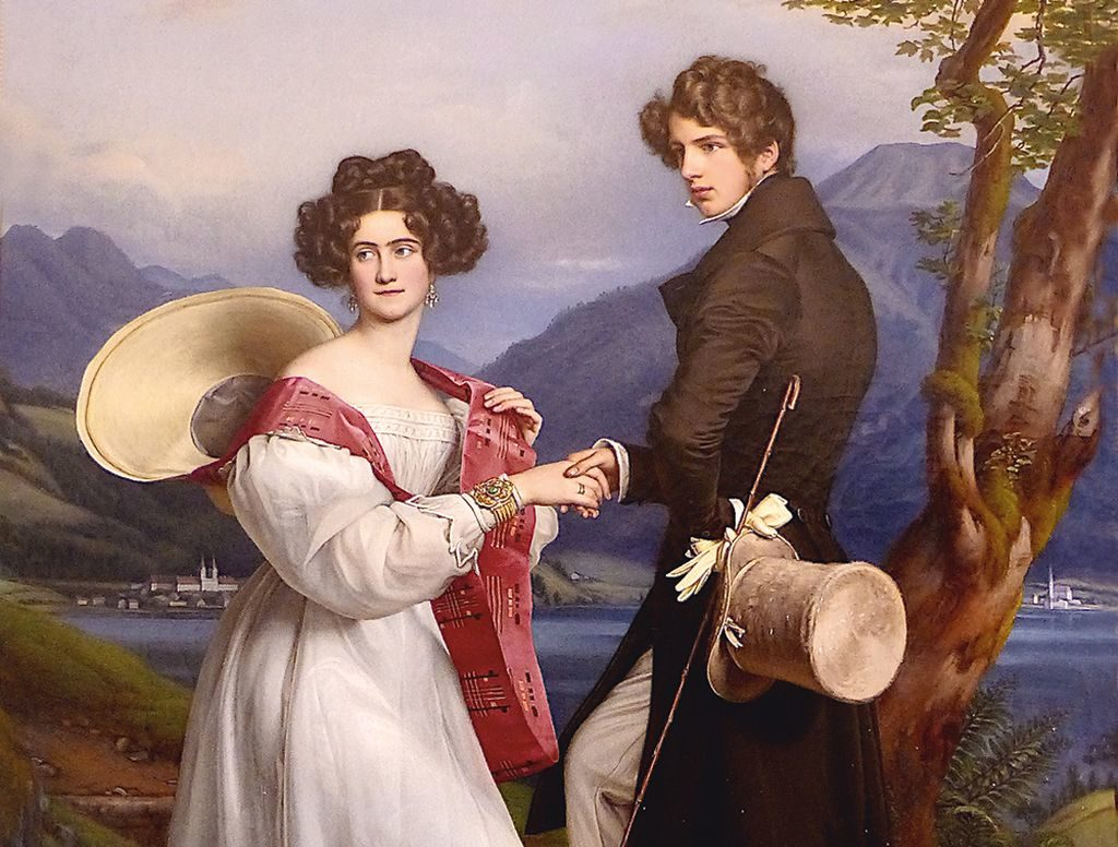 Verlobungsbild Herzog Max und Ludovica