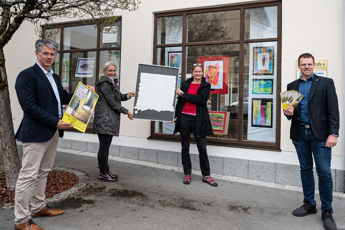 Kunst im Schaufenster in Miesbach